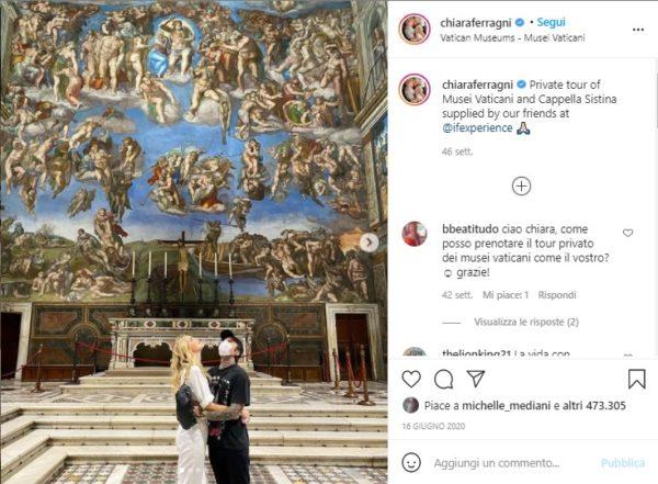 influencer-marketing-turismo-Chiara Ferragni-Fedez-Vaticani