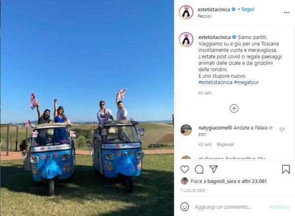 influencer-marketing-turismo-Estetista Cinica-Touring Club