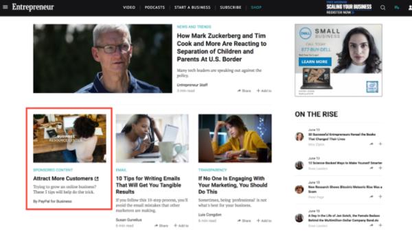 recommendation widget-native advertising